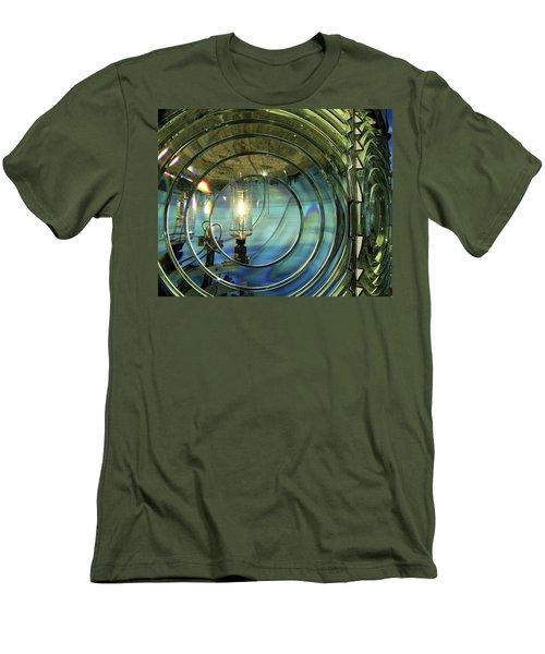 Cape Blanco Lighthouse Lens Men's T-Shirt (Slim Fit) by James Eddy