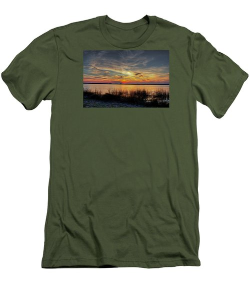 Men's T-Shirt (Slim Fit) featuring the photograph Cape Fear Sunset Return by Phil Mancuso