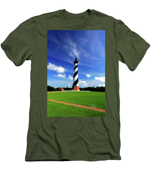 Men's T-Shirt (Slim Fit) featuring the photograph Cape Hatteras Lighthouse by Meta Gatschenberger