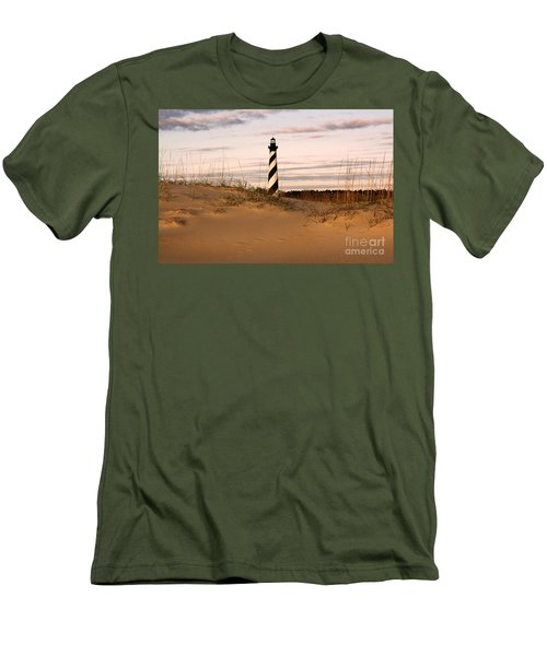 Cape Hatteras Lighthouse Men's T-Shirt (Slim Fit) by Tony Cooper