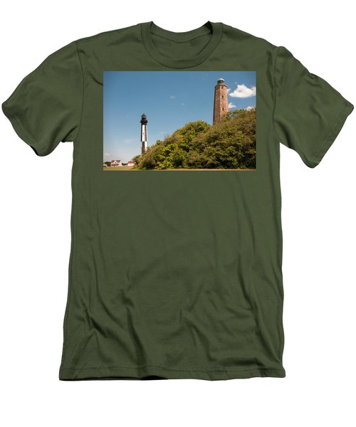 Cape Henry Lighthouses Old And New Men's T-Shirt (Athletic Fit)