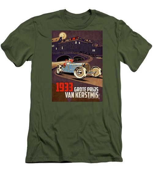 Car Racing Christmas Poster Of The 30s Men's T-Shirt (Athletic Fit)