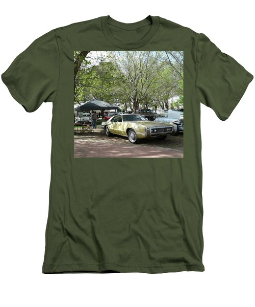 Men's T-Shirt (Slim Fit) featuring the pyrography Car Show Saturday by Jack Pumphrey