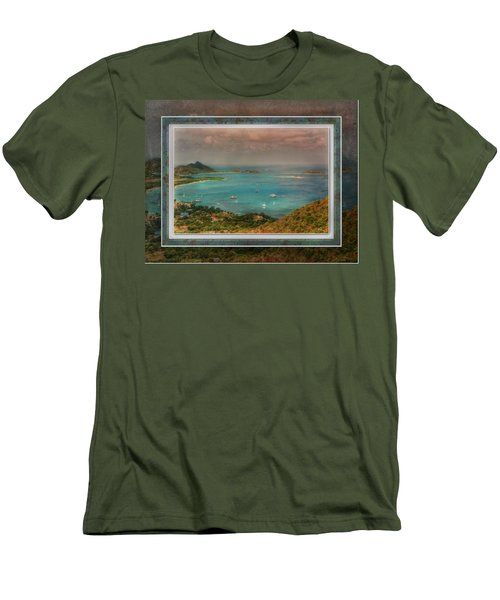 Men's T-Shirt (Athletic Fit) featuring the digital art Caribbean Symphony by Hanny Heim