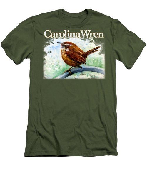 Carolina Wren Shirt Men's T-Shirt (Athletic Fit)