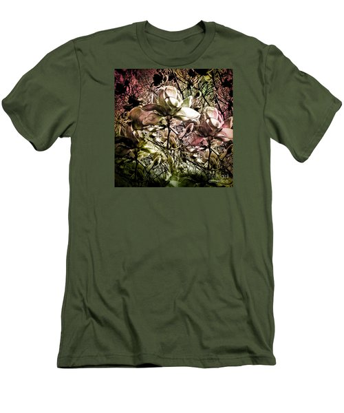 Carols Magnolia Men's T-Shirt (Slim Fit) by Karen Lewis