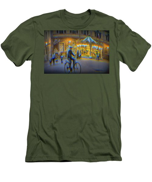 Carousel Lucca Italy Men's T-Shirt (Athletic Fit)