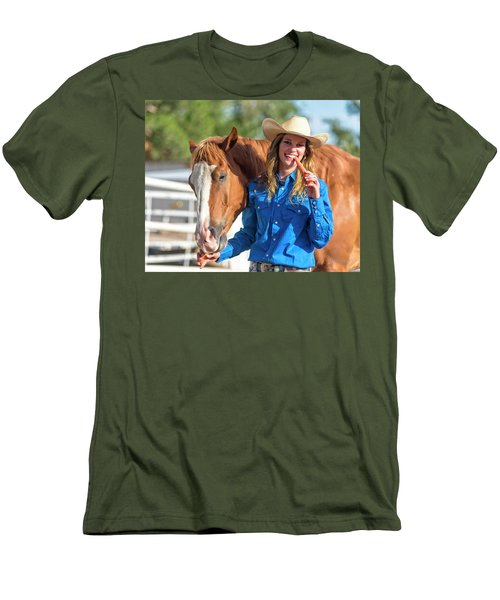 Carrots,cowgirls And Horses  Men's T-Shirt (Athletic Fit)