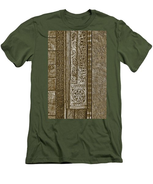 Men's T-Shirt (Slim Fit) featuring the photograph Carving - 6 by Nikolyn McDonald
