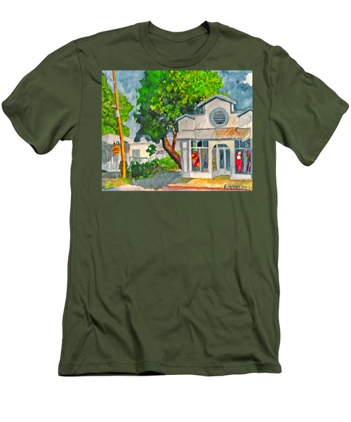 Men's T-Shirt (Slim Fit) featuring the painting Caseys Place by Eric Samuelson