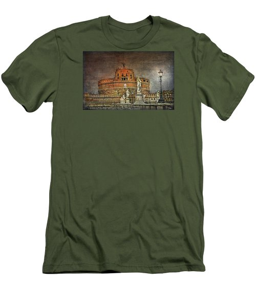 Men's T-Shirt (Athletic Fit) featuring the photograph Castel Sant Angelo Fine Art by Hanny Heim