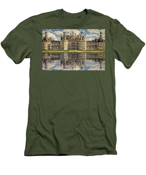Men's T-Shirt (Slim Fit) featuring the photograph Castle Chambord by Heiko Koehrer-Wagner