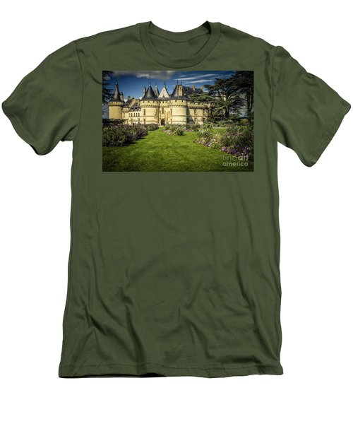 Men's T-Shirt (Slim Fit) featuring the photograph Castle Chaumont With Garden by Heiko Koehrer-Wagner