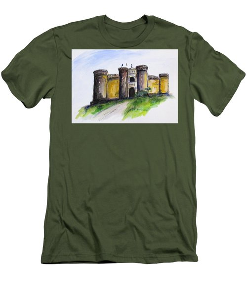 Castle Nuovo, Napoli Men's T-Shirt (Slim Fit) by Clyde J Kell