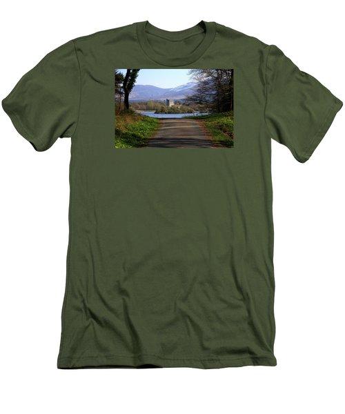 Castle On The Lakes Men's T-Shirt (Slim Fit) by Aidan Moran