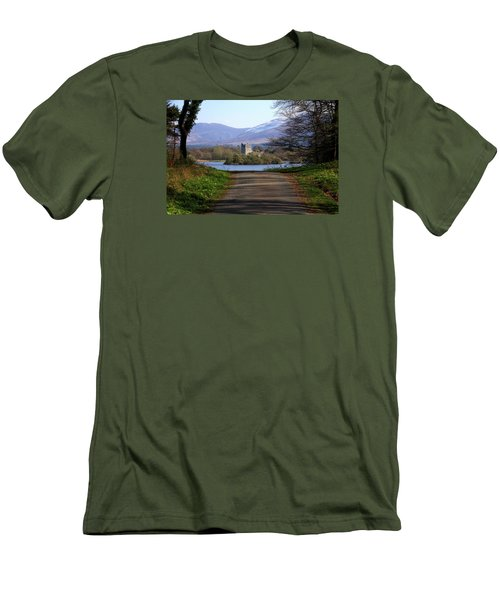 Castle On The Lakes Men's T-Shirt (Athletic Fit)