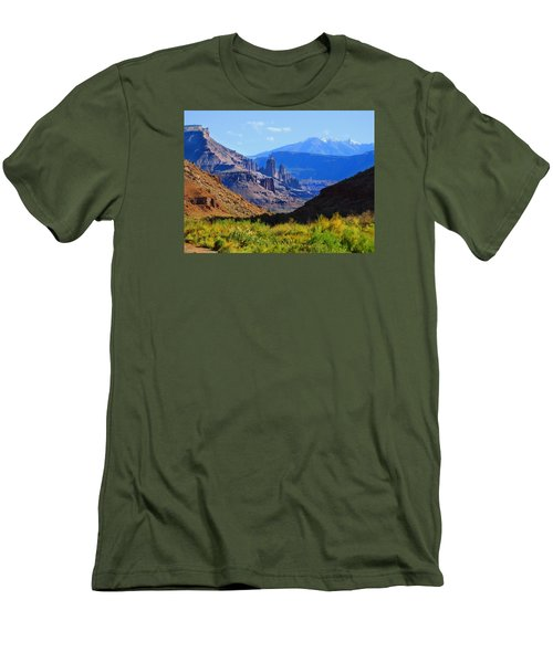 Castle Valley Men's T-Shirt (Slim Fit) by Laura Ragland
