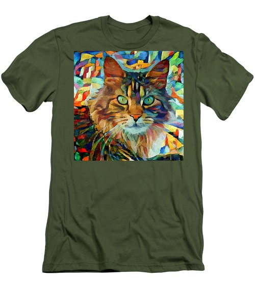 Cat On Colors Men's T-Shirt (Athletic Fit)