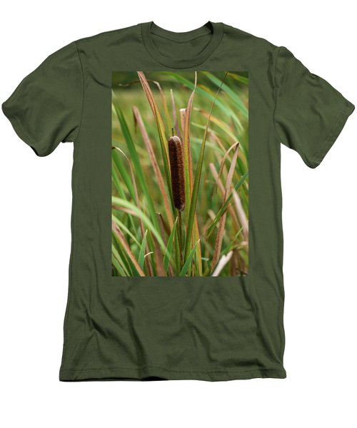 Men's T-Shirt (Slim Fit) featuring the photograph Cat Tail by Paul Freidlund