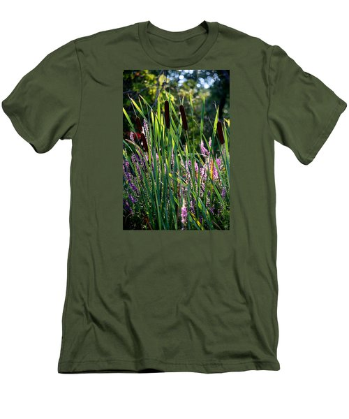 Cat Tails In The Morning Men's T-Shirt (Slim Fit)