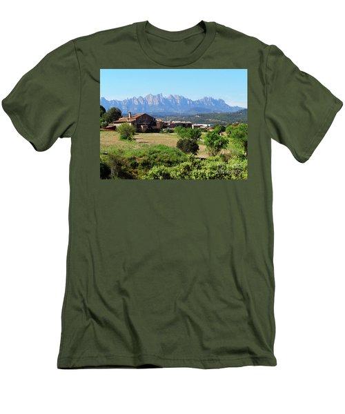 Catalan Landscape In Spring Men's T-Shirt (Athletic Fit)