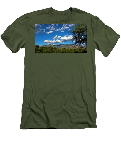 Men's T-Shirt (Athletic Fit) featuring the photograph Catalina Mountains H48 by Mark Myhaver