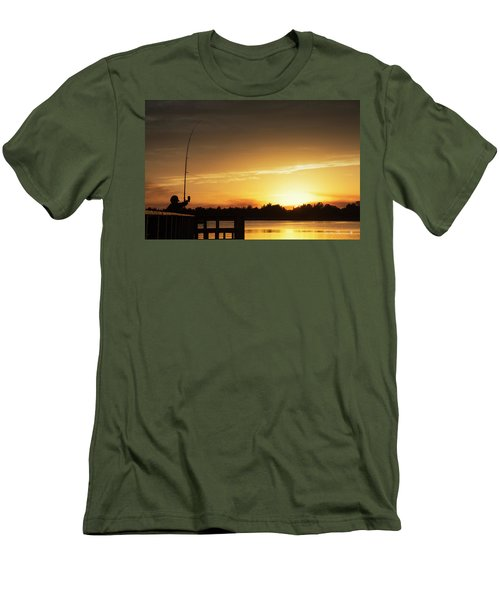 Catching The Sunset Men's T-Shirt (Slim Fit) by Phil Mancuso