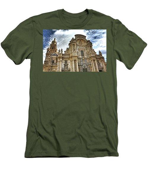 Men's T-Shirt (Slim Fit) featuring the digital art Catedral De Murcia by Angel Jesus De la Fuente