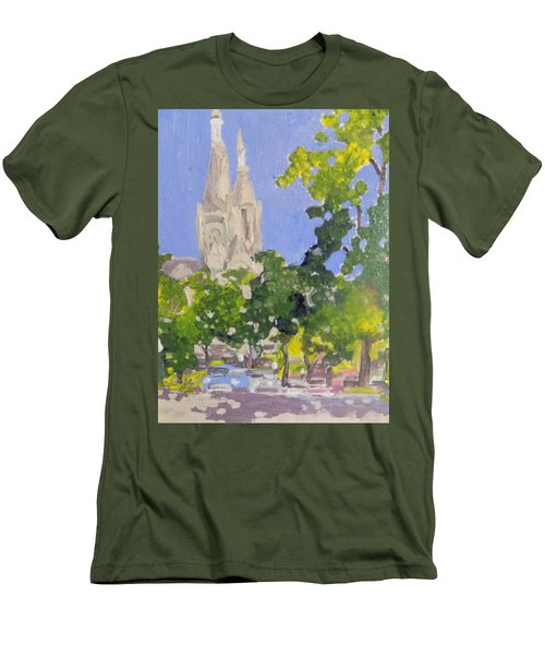 Cathedral Men's T-Shirt (Slim Fit) by Rodger Ellingson