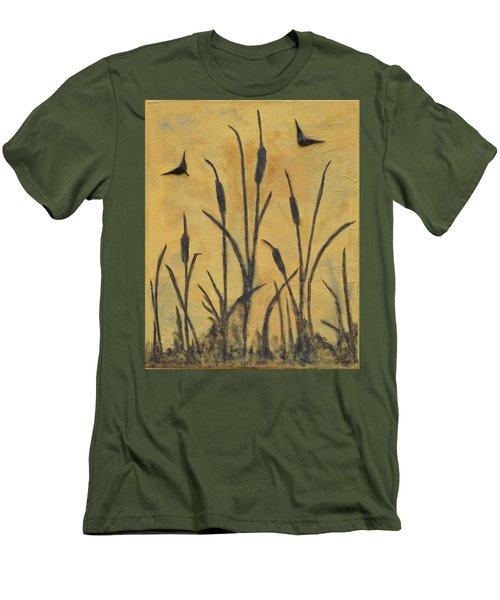 Cattails I Men's T-Shirt (Slim Fit) by Trish Toro
