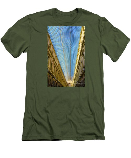 Men's T-Shirt (Slim Fit) featuring the photograph Ceiling  by Pravine Chester