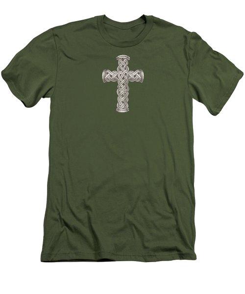 Celtic Cross B997 Men's T-Shirt (Athletic Fit)