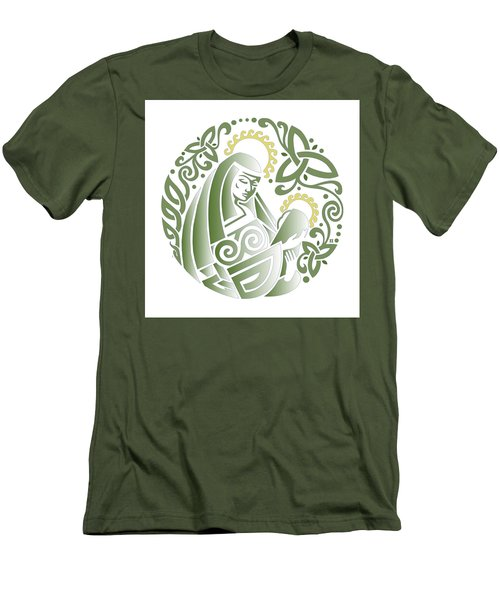 Celtic Green Madonna Men's T-Shirt (Athletic Fit)