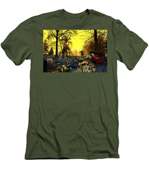 Cemetery In Feast Of The Dead Men's T-Shirt (Athletic Fit)