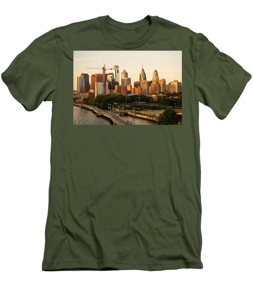 Men's T-Shirt (Athletic Fit) featuring the photograph Center City Philadelphia by Ed Sweeney