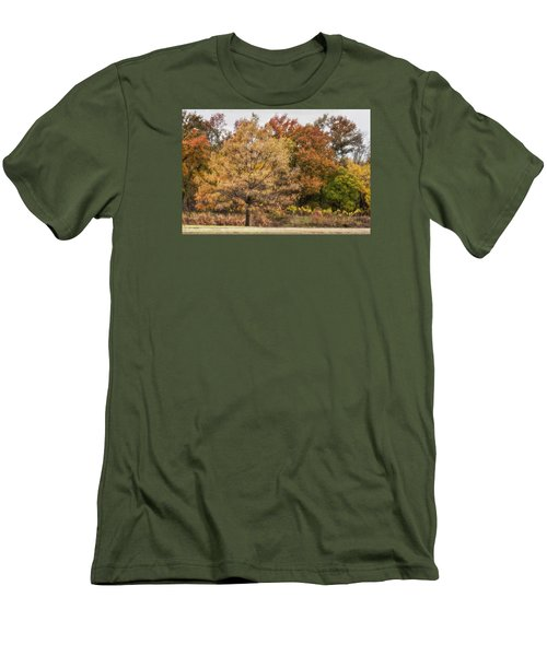 Men's T-Shirt (Slim Fit) featuring the photograph Center Of Attention by Joan Bertucci