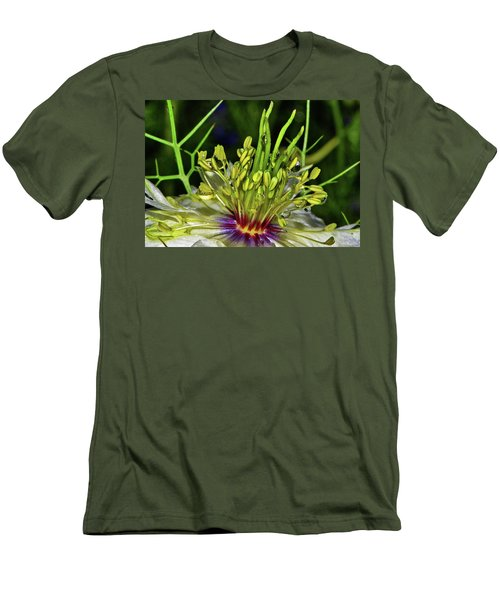 Centerpiece - Love In The Mist Macro Men's T-Shirt (Slim Fit) by George Bostian