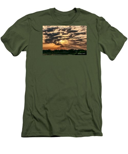 Men's T-Shirt (Slim Fit) featuring the photograph Central Florida Sunrise by Christopher Holmes