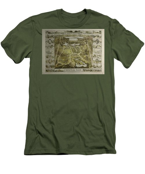 Men's T-Shirt (Slim Fit) featuring the photograph Central Park 1863 by Duncan Pearson