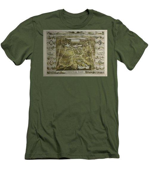 Central Park 1863 Men's T-Shirt (Slim Fit) by Duncan Pearson