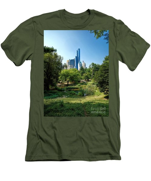 Central Park Ny Men's T-Shirt (Athletic Fit)
