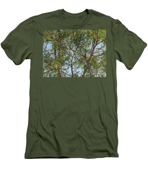 Men's T-Shirt (Slim Fit) featuring the photograph Central Texas Sky View Through Mesquite Trees by Ray Shrewsberry