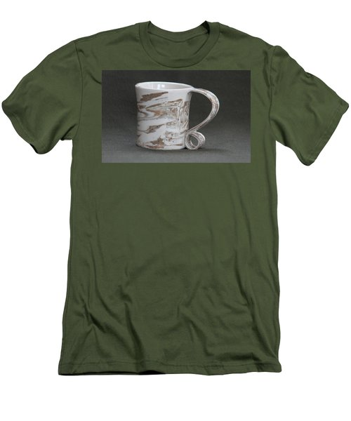 Ceramic Marbled Clay Cup Men's T-Shirt (Slim Fit) by Suzanne Gaff