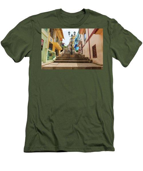 Cerro Santa Ana Guayaquil Ecuador Men's T-Shirt (Slim Fit) by Marek Poplawski