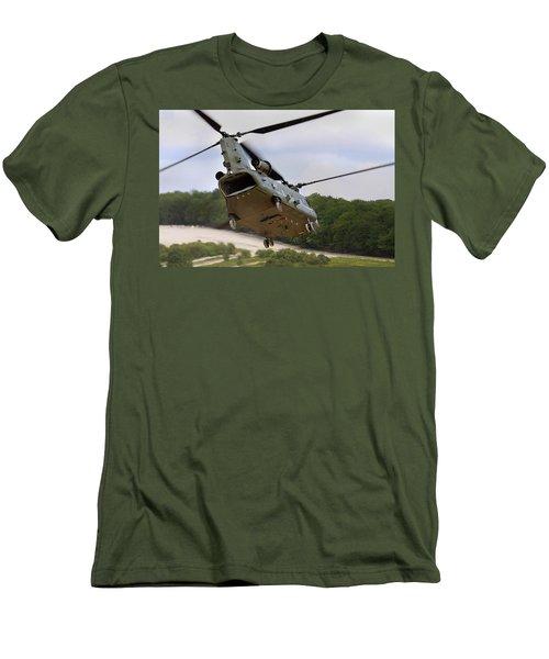 Ch47 Chinook On Manoeuvres Men's T-Shirt (Slim Fit) by Ken Brannen