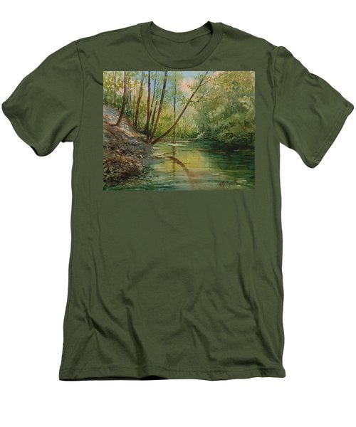 Chagrin River In Spring Men's T-Shirt (Athletic Fit)