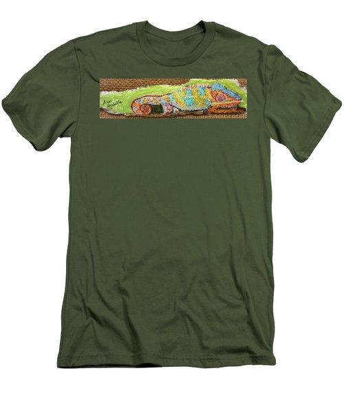 Chameleon Men's T-Shirt (Slim Fit) by Ann Michelle Swadener