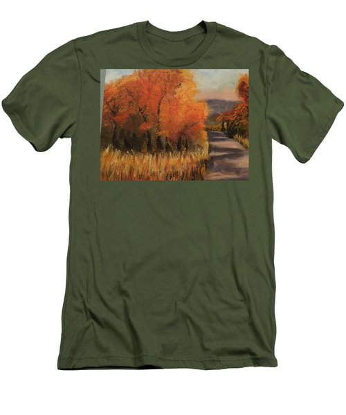 Changing Season Men's T-Shirt (Slim Fit) by Sharon Schultz