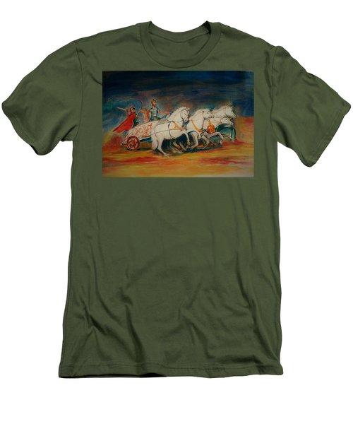 Chariot Men's T-Shirt (Slim Fit) by Khalid Saeed