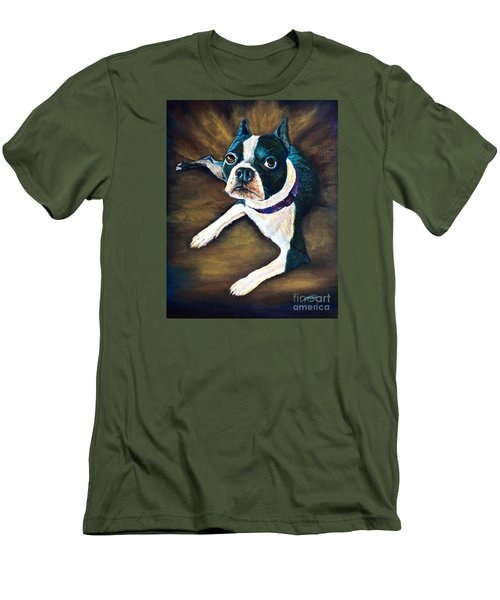 Men's T-Shirt (Slim Fit) featuring the painting Charles by AnnaJo Vahle